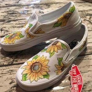 Hand painted Sunflower Vans